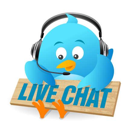 Blue Bird Live Chat Sign