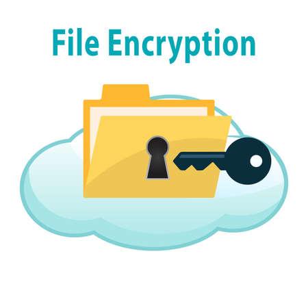 Photo pour File Encryption - image libre de droit