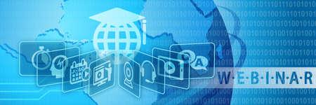 Photo pour Webinar Training Online Education Concept Banner - image libre de droit