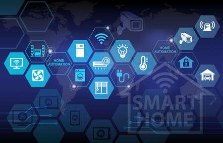 Photo pour Smart Home Automation Remote Control Background - image libre de droit