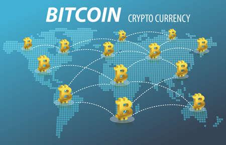 Photo pour Bitcoin Electronic Crypto Currency Transaction Concept - image libre de droit