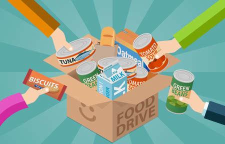 Photo pour Food drive donation box - image libre de droit