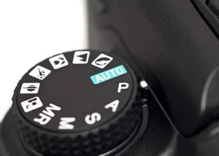 Closeup of mode dial on Dslr camera (shallow DOF)
