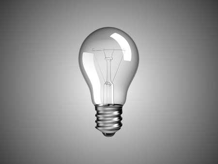 Solution or idea -  lightbulb over grey background