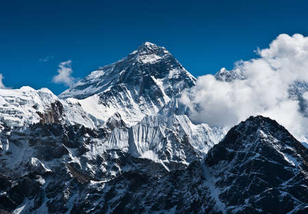 Foto de Everest Mountain Peak - the top of the world (8848 m) - Imagen libre de derechos