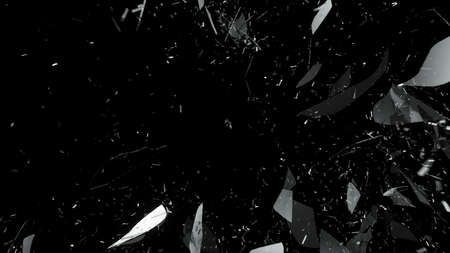 Photo pour Shattered or cracked glass on black. Large resolution - image libre de droit