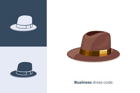 Illustration for Vector icon of hat in flat style - Royalty Free Image