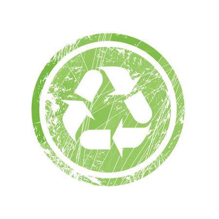 Recycling symbol for stamp and labels