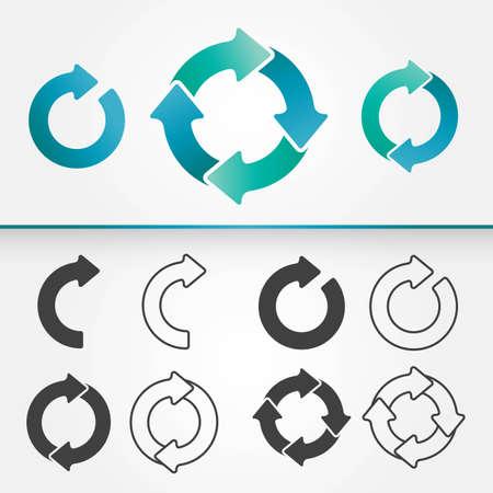 Set of Arrows Circle