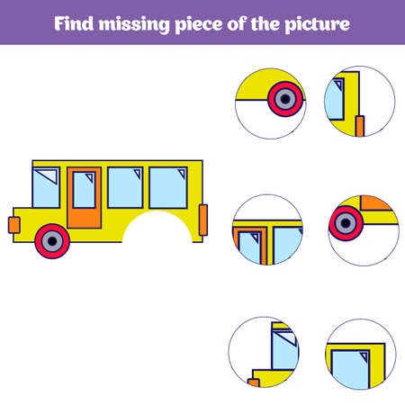 Matching children educational game. Match insects parts. Find missing puzzle. Activity for pre school years kids