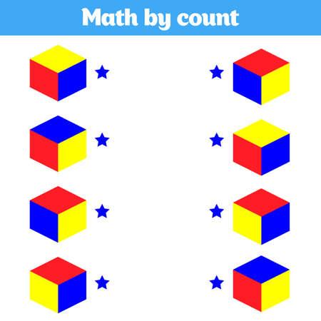 Illustration pour Visual Educational Game for children. Worksheet for preschool kids. Vector illustration. - image libre de droit