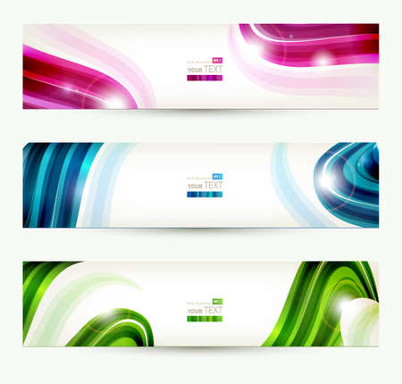 Photo for set of four banners, abstract headers  - Royalty Free Image