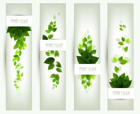 Illustration pour set of four banners  - image libre de droit