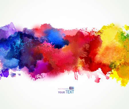 Ilustración de Bright watercolor stains  - Imagen libre de derechos