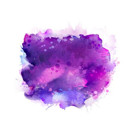 Illustration pour Purple, violet, lilac and blue watercolor stains. Bright element for abstract artistic background. - image libre de droit