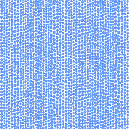 Blotchy inky Spots Seamless Pattern (Four Tiles) - Baby Blue on White
