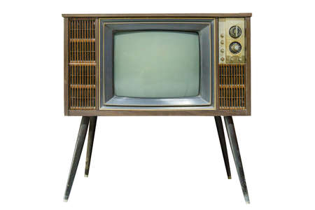 Foto per Old Television die cut on white isolated. - Immagine Royalty Free