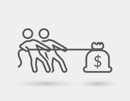 team effort line icon, for business, isolated.