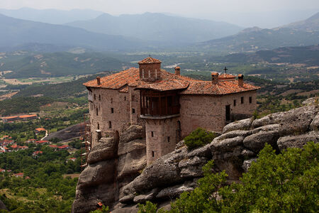 The Meteora complex in Northern Greece. UNESCO World Heritage