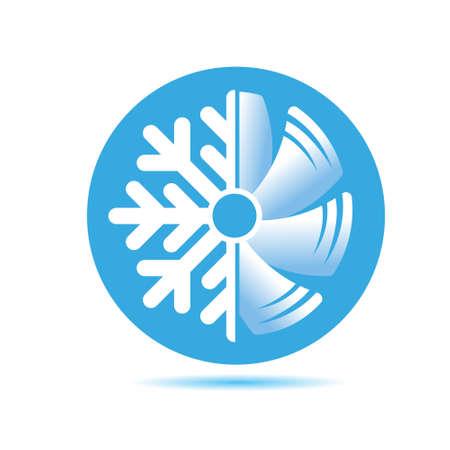 Illustration pour Air conditioner icon. flat design - image libre de droit