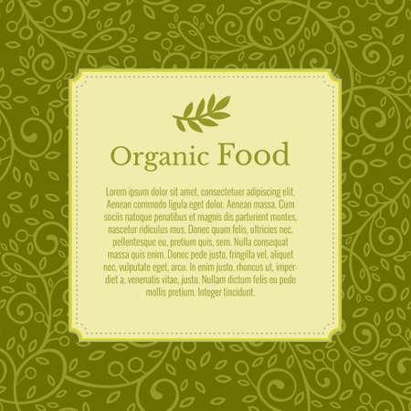 Illustration pour Flyer, booklet, poster, vector template. Olive branch in the background. Modern ecology green leaves design - image libre de droit