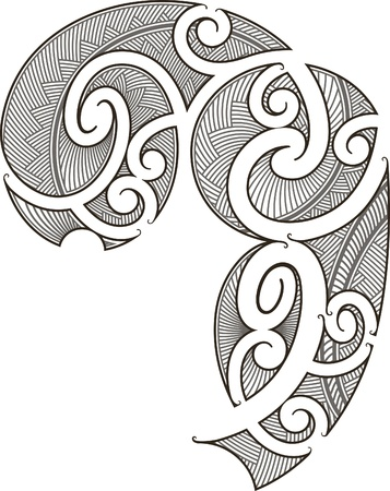Maori style tattoo design fit for a man