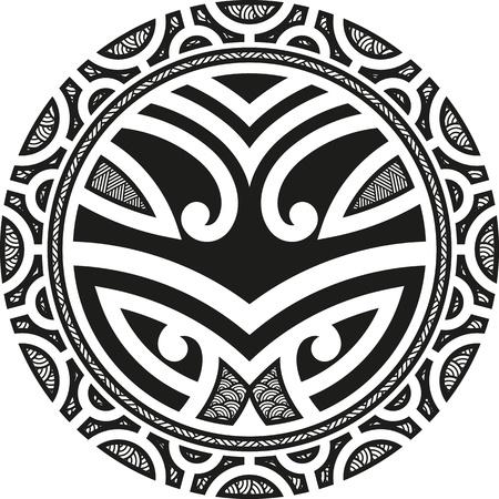 Traditional Maori Taniwha tattoo design