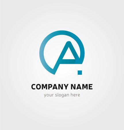 Illustration pour Letter A Icon for Business Card Logo, Mock up in Several Colors - image libre de droit