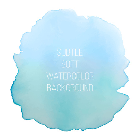 Colorful abstract vector background. Soft blue and green watercolor