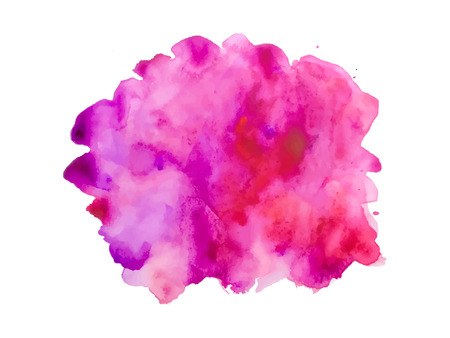 Illustration for Colorful abstract vector background. Soft pink watercolor stain. Watercolor painting. - Royalty Free Image