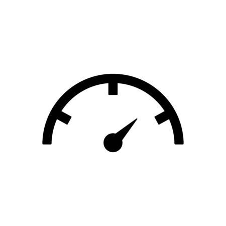 Illustration pour Speedometer outline icon isolated. - image libre de droit