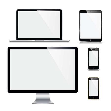 Ilustración de Set device mockup. Vector illustration - Imagen libre de derechos