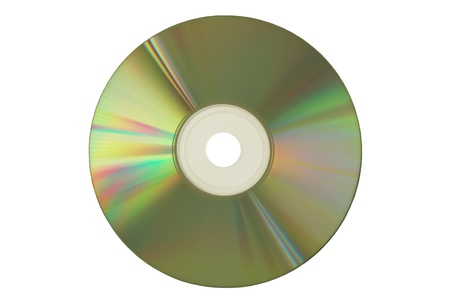 Compact Disc on white background