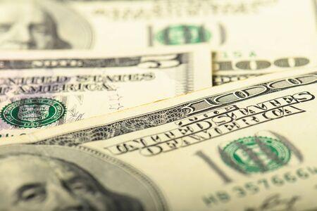 Photo pour Cash banknotes dollars background. Background with money banknote. - image libre de droit