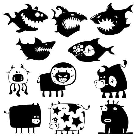 sharks and cows