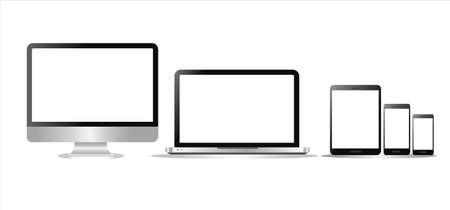 Illustration pour Screen display icon - image libre de droit