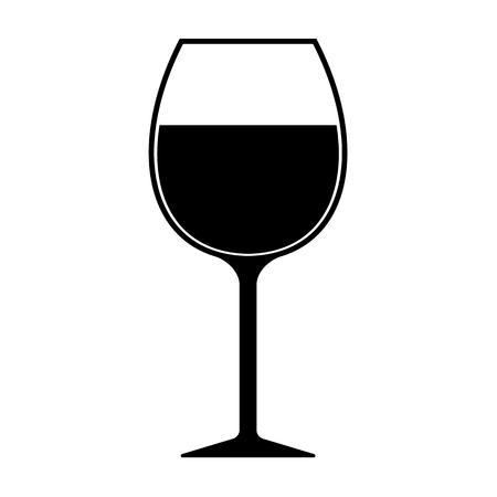 Illustration pour Wine Glass Silhouette Icon Vector Isolated - image libre de droit