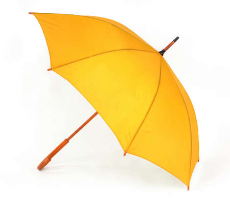 Photo pour opened yellow umbrella isolated on white background - image libre de droit