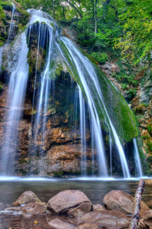 The beautiful waterfall in f