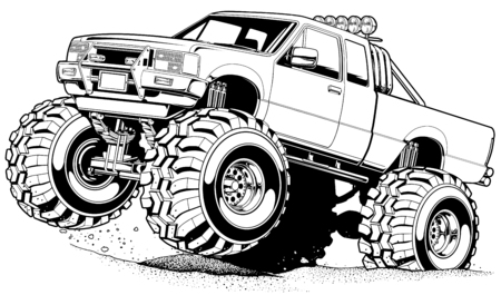 Cartoon 4x4 Truck