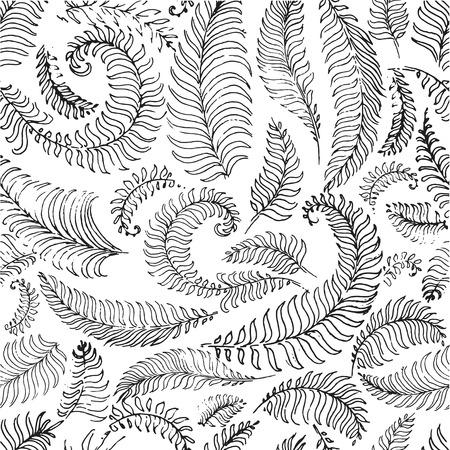 Illustration pour Tropical palm leaves, jungle leaves seamless vector floral pattern illustration - image libre de droit