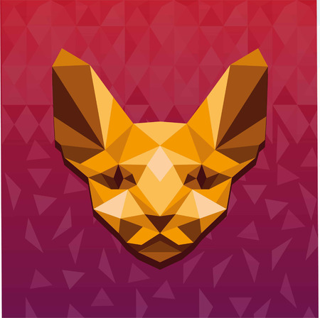 Illustration for Vector illustration concept of polygonal sphinx. - Royalty Free Image