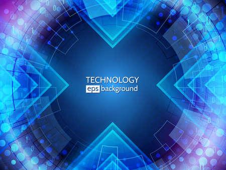 Illustration pour Abstract technology background. big data tunnel. Hi-tech communication concept - image libre de droit