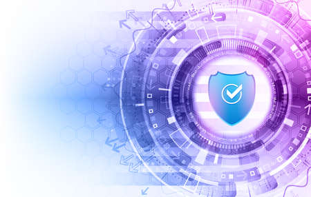 Ilustración de Cybersecurity for business and internet project. Vector illustration of a data security services. Data protection, privacy, and internet security concept. - Imagen libre de derechos