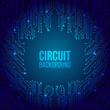 Illustration pour High-tech technology background texture. Circuit board minimal pattern. Science vector illustration. Abstract digital modern concept style. - image libre de droit