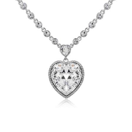 Photo for Diamond pendant isolated on white background  - Royalty Free Image