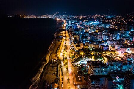 Photo for Cityscape downtown at night Hadim, Konya, Turkey - Royalty Free Image
