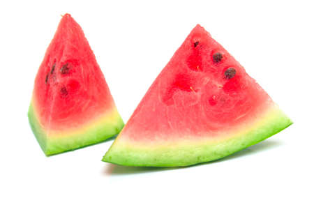 watermelon on the white. Isolation.