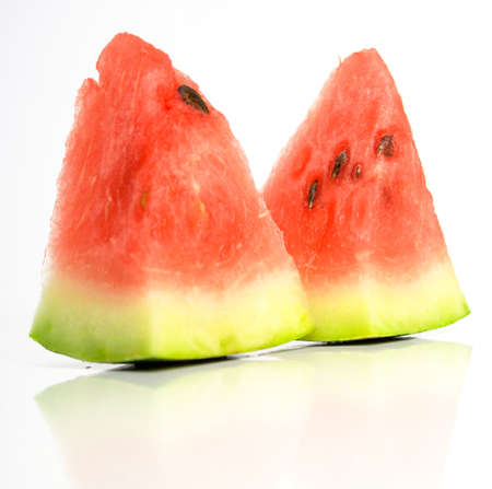 juicy watermelon on a white surface