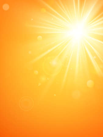Illustration pour Summer template hot summer sun rays burst with lens flare. EPS 10 vector file - image libre de droit